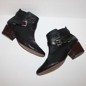 COACH Pauline Black Leather Ankle Boots Women 9